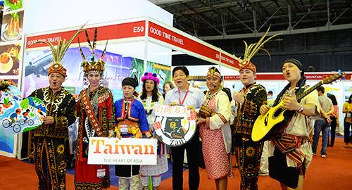 Cơ quan xúc tiến du lịch Đài Loan tham gia sự kiện tại ITE 2017. Ảnh: Phong Vinh.