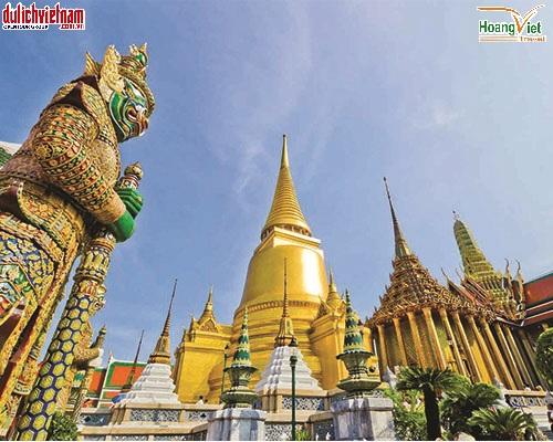Chùa Núi Vàng  nơi linh thiêng bậc nhất Bangkok.