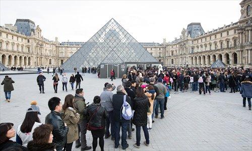 Bảo tàng Louvre là điểm đến hàng đầu tại Paris. Ảnh:Global Times.