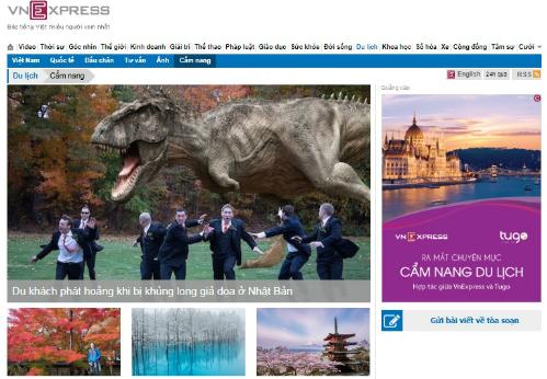 Giao diện trang Cẩm nang thuộc trang Du lịch - VnExpress.