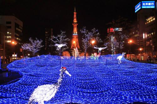 Lễ hội White illumination ở công viên Odori (ảnh sưu tầm: internet)