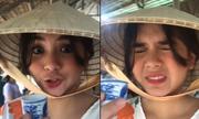 Hot girl Philippines nhăn mặt khi uống thử rượu rắn ở miền Tây