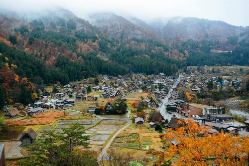 Làng cổ Shirakawa nằm ở phía Tây Bắc tỉnh Gifu, miền trung Nhật Bản vào thu.Ảnh: Nguyên Chi.