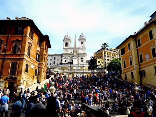Khu Bậc thang Tây Ban Nha ở Rome. Ảnh: Trương Anh Ngọc.