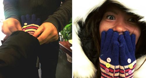 tại Hà Nội, Cathy được thực hiện mọi điều mà cô mơ ước: uống cà phê, chocolate nóng hay mua đeo những đôi găng tay màu sắc. Ảnh: Tripzilla.