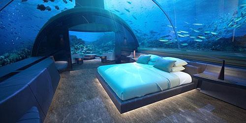 Tạp chí kiến trúc Architectural Digest cho biết đây là công trình đầu tiên trong loại hình nghỉ dưỡng này. Giá một đêm ở đây là 50.000 USD. Ảnh: Fox.