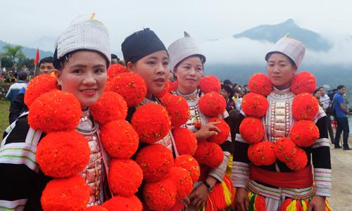 Những cô gái dân tộc Dao ở Bắc Mê.