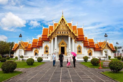 Chùa cẩm thạch ở Thái Lan.