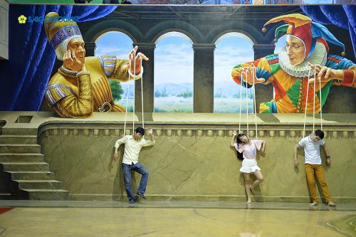 Bảo tàng tranh 3D ở Bangkok.