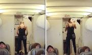 Hành khách bị chỉ trích vì tập yoga như diễn xiếc trên máy bay