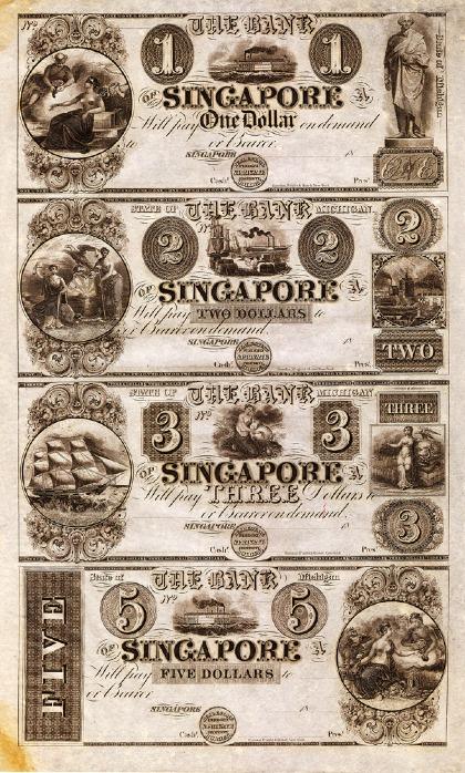 Người dân trong thị trấn từng lưu hành đồng đô-la Singapore riêng, với hai ngân hàng Bank of Alleganvà Bank of Singapore. Ảnh:Alchetron.