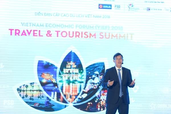 Giám đốc Phát triển Đại học Fulbright Việt Nam với bài tham luận thứ ba về chất lượng nguồn nhân lực ngành du lịch.