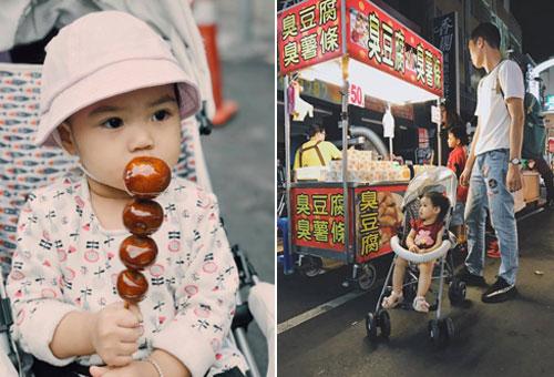 Bé Pai 16 tháng trong chuyến du lịch cùng bố mẹ tại Đài Loan. Ảnh: NVCC.