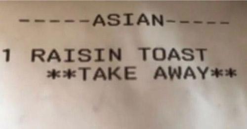 Katherine bất ngờ vì nhân viên quán ăn gọi mình là người châu Á. Ảnh: Sun.