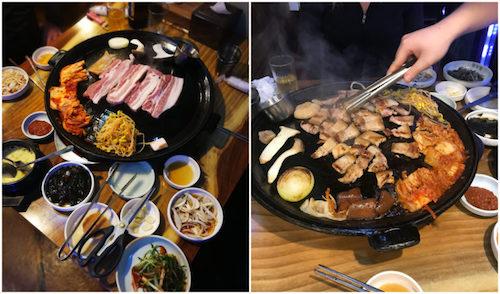 Tiệc nướng BBQ thịt heo đen tại Hàn Quốc. Ảnh: Pinterest.