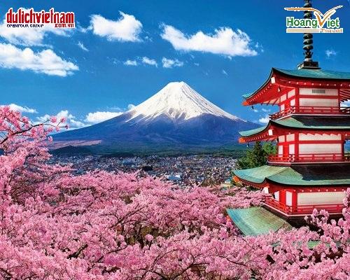 Núi Phú Sĩ, biểu tượng của Nhật Bản.
