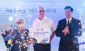 Khách quốc tế thứ 15 triệu đến Việt Nam trong năm 2018