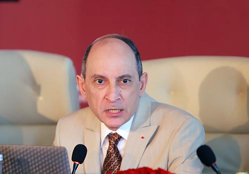 Ông Akbar Al Baker - Tổng Giám đốc Điều hành Qatar Airways, mong muốn đường bay sẽ giúp kết nối du khách với Đà Nẵng. Ảnh: Nguyễn Đông.