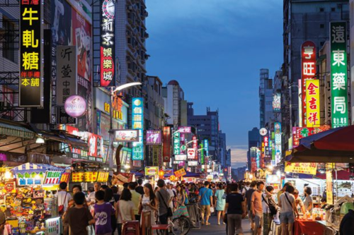 Chợ đêm tại Đài Loan. Ảnh:Times Higher Education.
