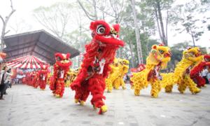 Màn múa lân lập kỷ lục Guinness Việt Nam