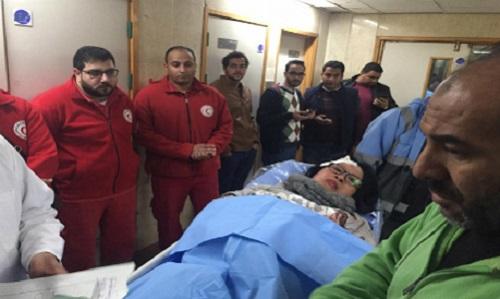 Một nữ du khách Việt Nam nhập viện sau vụ đánh bom ngày 28/12. Ảnh: MENA.
