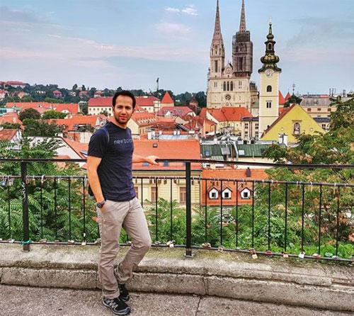 Parsa trong chuyến du lịch tới Zagreb, Croatia. Ảnh: Instagram.