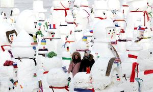 Tác phẩm băng tuyết cao 2.019 m ở Trung Quốc