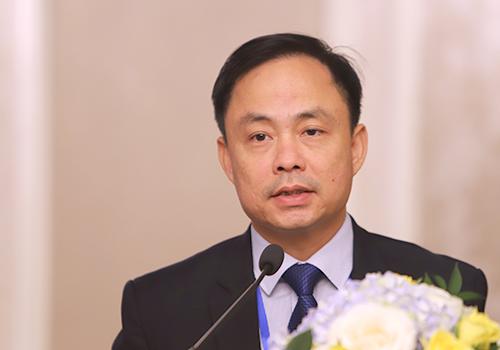 Ông Nguyễn Xuân Bình phát biểu tại lễ ra mắt Liên minh Vietnam Golf Coast. Ảnh: Nguyễn Đông.
