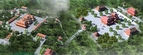 Phối cảnh quần thể du lịch Tây Yên Tử với vốn đầu tư dự kiến hơn 300 tỷ đồng, địa điểm tổ chức chính của tuần lễ văn hóa du lịch Bắc Giang2019.