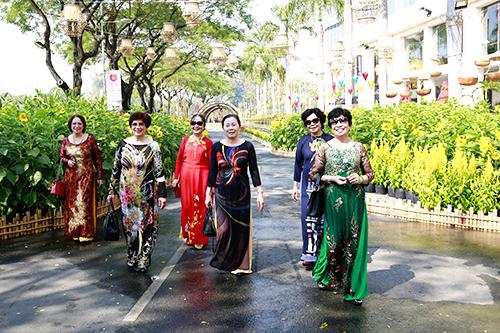 Hội hoa xuân Phú Mỹ Hưng, quận 7Ảnh: Phú Mỹ Hưng.