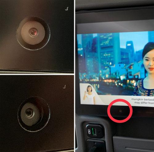 Hãng Singapore Airlines cho biết không có ý định phát triển công dụng của chiếc camera này, dù là hiện tại hay tương lai. Ảnh: Twitter.