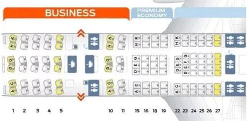 Hãng Lufthansa không bán vé ở hàng ghế 13 và 17. Ảnh: News.