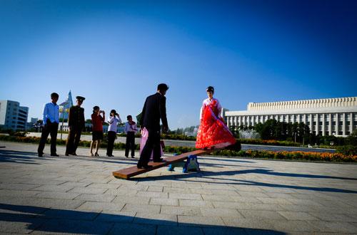 Cuộc sống thường nhật ở Triều Tiên qua ống kính du khách Việt. Ảnh: Ngô Quang Minh.