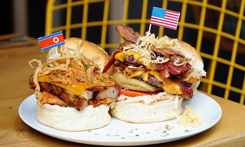 Burger Trump - Kim giá từ 150.000 đồng trong phố cổ Hà Nội. Ảnh:Phong Vinh.