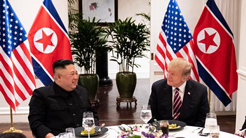 Bữa tối giữa hai nhà lãnh đạo vào ngày 26/2. Ảnh:Nhà Trắng.