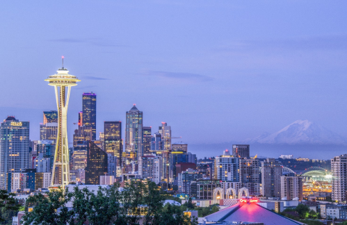 Seattle thuộc bang Washington, mệnh danh là Thành phố ngọc bích.