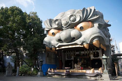 Miệng sư tử - biểu tượng nổi tiếng của đền. Ảnh: Jw-webmagazine.