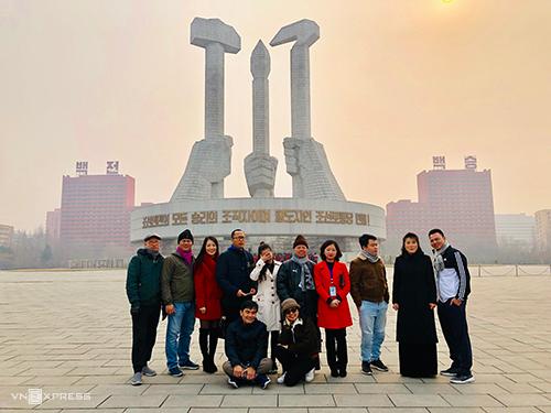 Đoàn khách Việt tới thăm thủ đô Bình Nhưỡng vào đầu tháng 3 năm nay. Ảnh:Đặng Sơn.