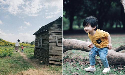 Các chuyến dã ngoại cuối tuần luôn khiến cậu con trai của chị Nhung háo hức. Ảnh: NVCC.