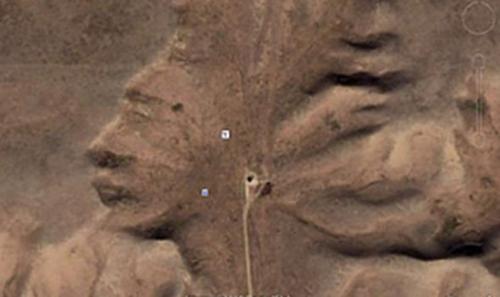 Khu vực này có tên gọi là Badlands Guardian, hay tên khác là Đầu người phụ nữ. Ảnh: Express.