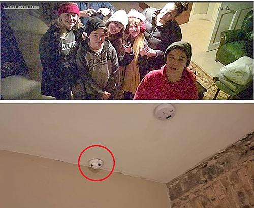 Gia đình Nealie và Andrew thấy hình ảnh của chính mình ghi lại trên camera. Ảnh:Nealie Barker.