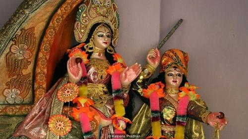 Nữ thần Bonbibi được tin là người bảo cho vệ người Ấn Độ và người Bangladesh ở Surdarbans. Ảnh: BBC