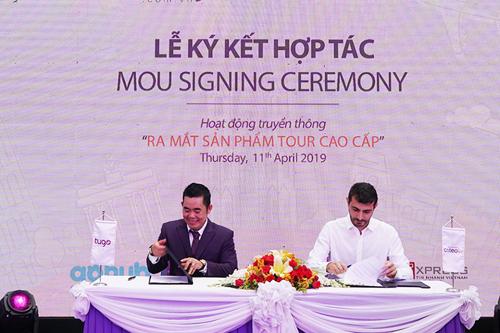 Đại diện Tugo ký kết với đại diện  Criteo Khu vực Đông Nam Á  Thái Bình Dương.