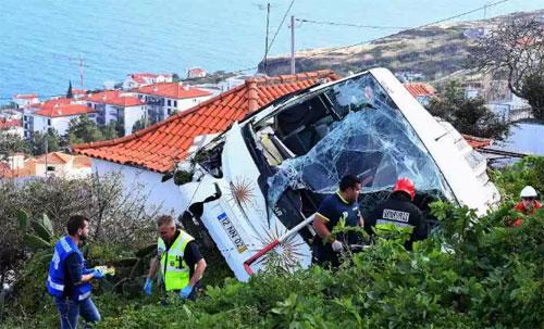 Nhóm du khách đang trong hành trình tới Funchal, thủ phủ của đảo Madeira thì gặp nạn. Ảnh: Sun.