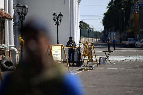 Chính phủ Sri Lanka tăng cường an ninh sau vụ nổ liên hoàn. Ảnh:AFP.