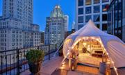 Căn lều trị giá 5.500 USD một đêm trên nóc khách sạn Mỹ