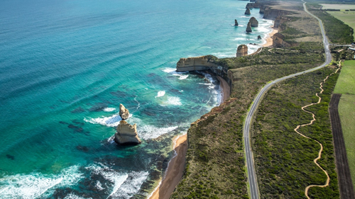 Một góc Great Ocean Road. Ảnh: Tourism Australia.