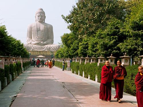 Bồ Đề Đạo Tràng được coi là điểm linh thiêng, là thánh tích quan trọng trong Phật Giáo. Ảnh: India.
