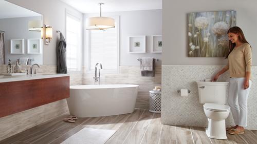 Nhà vệ sinh ở Mỹ là một trong những đề tài khiến nhiều du khách lần đầu đến Mỹ ngạc nhiên, bất ngờ. Ảnh: American Standard.