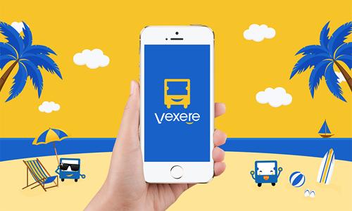 Du khách có thể mua vé xe từ website hoặc ứng dụng của Vexere.